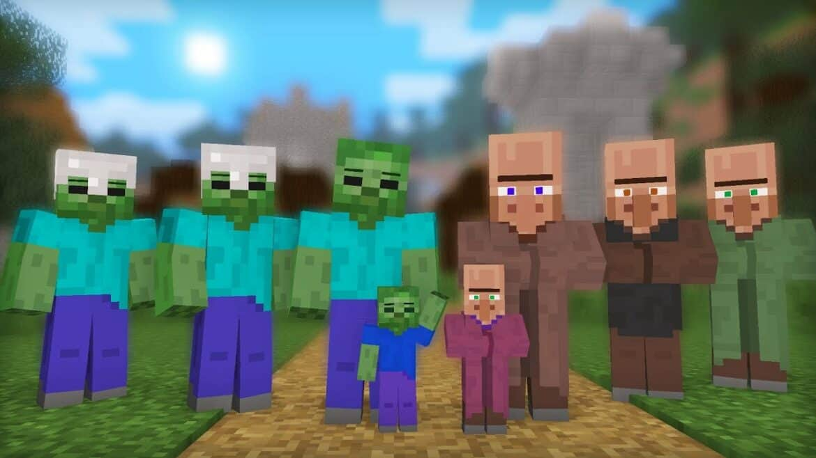 Cure a Zombie Villager in Minecraft
