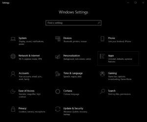 Uninstall Microsoft Store Apps